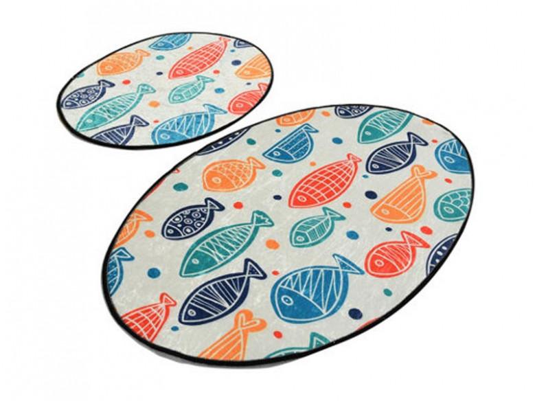 Set 2 Covorase de Baie Fish Colorful