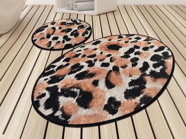 Set 2 Covorase de Baie Leopard