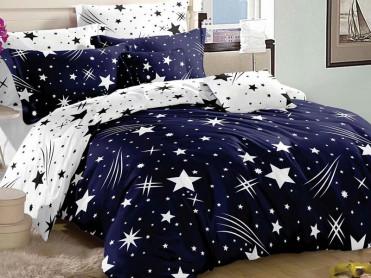 Lenjerie Star Comet Blue 6 Piese (Bumbac Satinat)