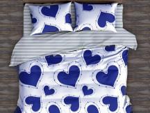 Lenjerie Blue Heart (Bumbac Satinat)