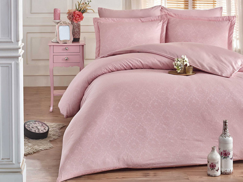Lenjerie Damask Pudra 6 piese (Satin Deluxe)