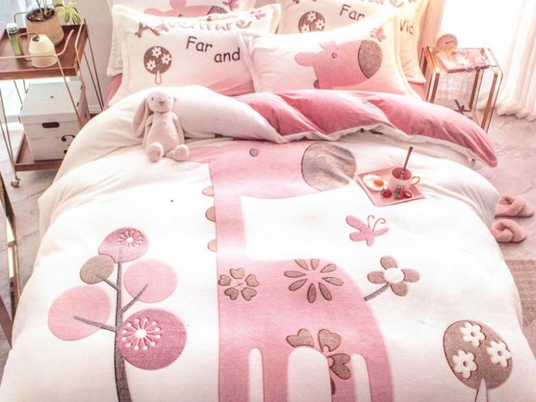 Lenjerie Pink Giraffe (Cocolino)