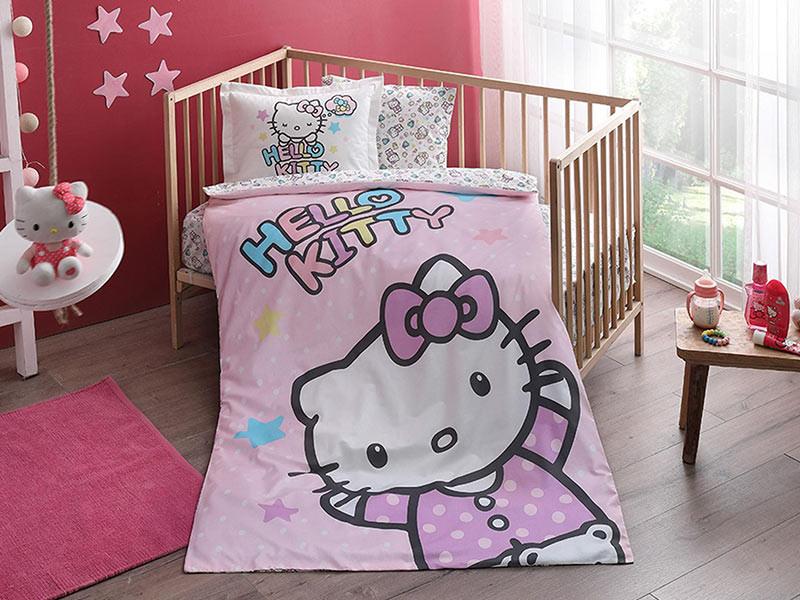 Lenjerie Patut Bebe Hello Kitty (Bumbac 100%)