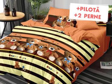 Pachet Lenjerie + Pilota + Perne Teddy Bear (Finet)