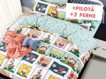 Pachet Lenjerie + Pilota + Perne Childhood (Finet)