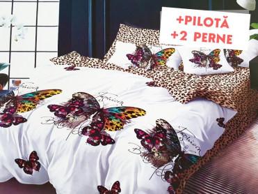 Pachet Lenjerie + Pilota + Perne Fashion Butterfly (Finet)