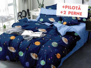 Pachet Lenjerie + Pilota + Perne Space Geometry (Finet)