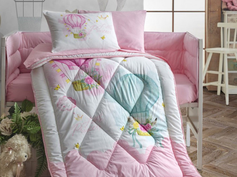 Set Complet Lenjerie Patut Bebe Little Princess Cottonbox (Bumbac 100%)