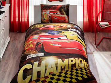 Lenjerie Copii Cars Champion (Bumbac 100%)