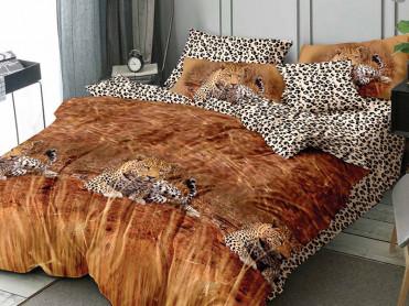 Lenjerie 1 Persoana Leopard (Finet)