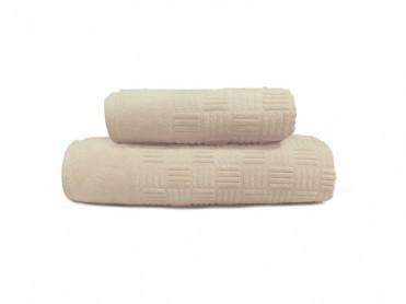 Set 2 Prosoape, 50x90 si 90x150 cm, Demore Cream (Bumbac 100%)
