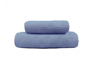 Set 2 Prosoape, 50x90 si 90x150 cm, Demore Blue (Bumbac 100%)