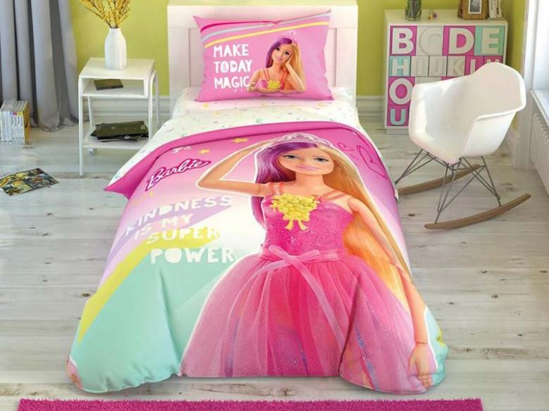Lenjerie Fluorescenta Copii Barbie Kindness (Bumbac 100%)