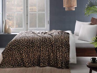 Patura Leopard Negru 160x220 cm