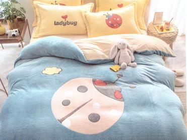 Lenjerie Ladybug Blue (Cocolino)