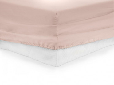 Cearsaf de pat cu elastic, Heinner, Roz 90x200cm (Bumbac 100%)