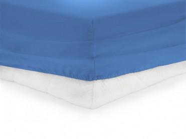 Cearsaf de pat cu elastic, Heinner, Albastru, 90x200cm (Bumbac 100%)