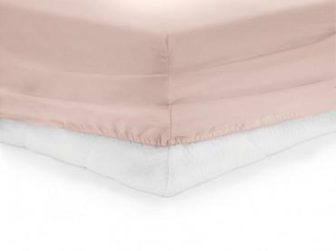 Cearsaf de pat cu elastic, Heinner, Roz, 180x200cm (Bumbac 100%)