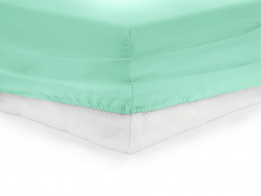 Cearsaf de pat cu elastic, Heinner, Turcoaz, 140x200cm (Bumbac 100%)