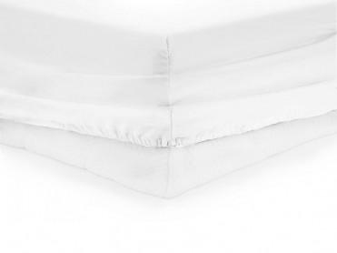 Cearsaf de pat cu elastic, Heinner, Alb, 140x200cm (Bumbac 100%)