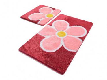 Set 2 Covorase de Baie Flower Fucsia (Acryl)