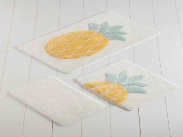 Set 3 Covorase de Baie Ananas (Acryl)