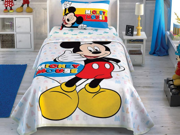 Lenjerie si Cuvertura Copii Mickey Call Me (Bumbac 100%)