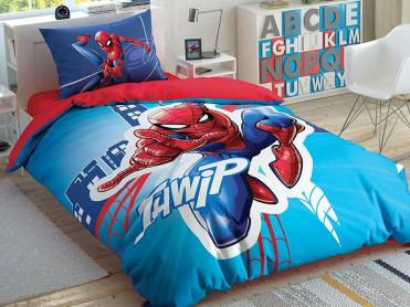 Lenjerie Fluorescenta Copii Spider-Man Light City (Bumbac 100%)