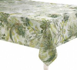 Fata de Masa Palms Verde, 160x220 cm (Bumbac 100%)