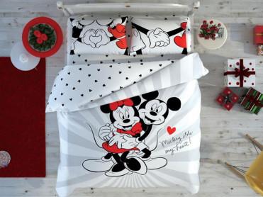 Lenjerie Copii Mickey + Minnie Love Day (Bumbac 100%)