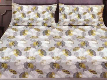 Cearsaf de pat cu elastic si 2 fete de perna, CNC LH21, 180x200cm (Bumbac Satinat)