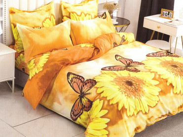 Lenjerie Sunflower 6 Piese (Bumbac Satinat)
