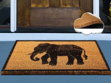 Covoras Intrare Elephant, 40x60 cm, din Fibre de Cocos