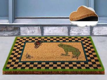 Covoras Intrare Frog Green, 40x60 cm, din Fibre de Cocos