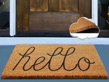 Covoras Intrare Hello, 40x60 cm, din Fibre de Cocos