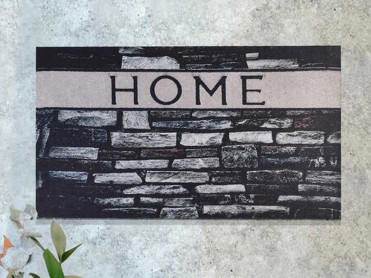 Covoras Intrare Grey Home, 45x70 cm, Cauciucat