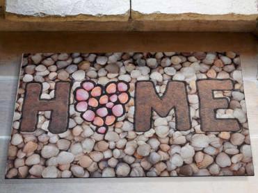 Covoras Intrare Home Stone, 45x70 cm, Cauciucat