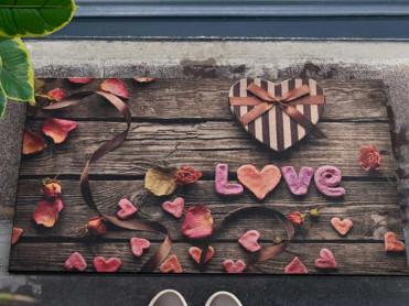 Covoras Intrare Romantic, 45x70 cm, Cauciucat