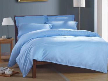 Lenjerie Nuria Albastru, cu elastic, 180x200 cm (Bumbac 100% Damasc)