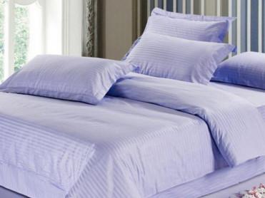 Lenjerie Nuria Purple Blue, cu elastic, 180x200 cm (Bumbac 100% Damasc)