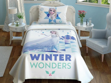 Lenjerie si Cuvertura Copii Frozen 2 Wonder (Bumbac 100%)