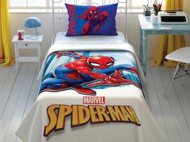 Lenjerie si Cuvertura Copii Spider-Man Jump (Bumbac 100%)
