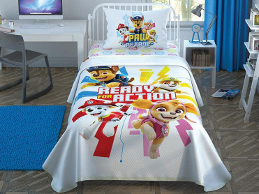 Lenjerie si Cuvertura Copii Paw Patrol Action (Bumbac 100%)