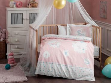 Lenjerie Patut Bebe Fairy Roz (Bumbac 100%)