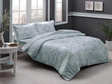 Lenjerie 1 Persoana Lucca Mint (Satin Deluxe)