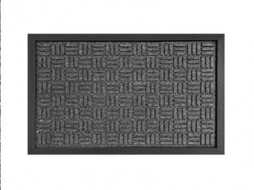 Covoras Intrare Loop Dark Grey, 40x60 cm, Cauciucat