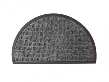 Covoras Intrare Semirotund Loop Dark Grey, 45x75 cm, Cauciucat