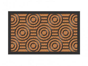 Covoras Intrare Circle, 40x60 cm, Fibre de Cocos