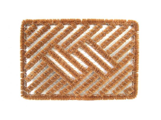 Covoras Intrare Wire Brush, 40x60 cm, Fibre de Cocos