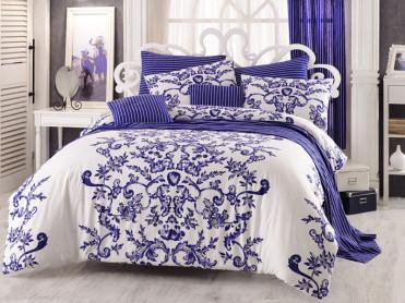 Lenjerie 1 Persoana Royal Blue (Bumbac 100%)